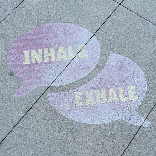 Street art - Inhale-Exhale
