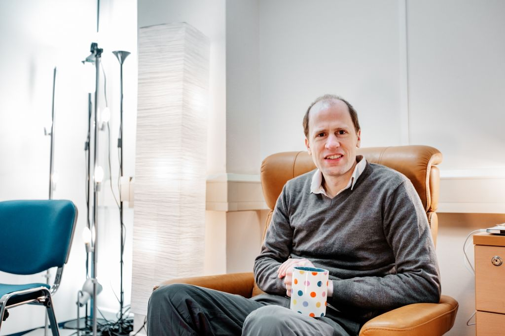 Nick Bostrom drinking coffee